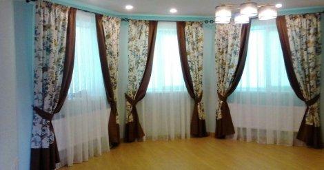 Дизайн и пошив штор на подхватах